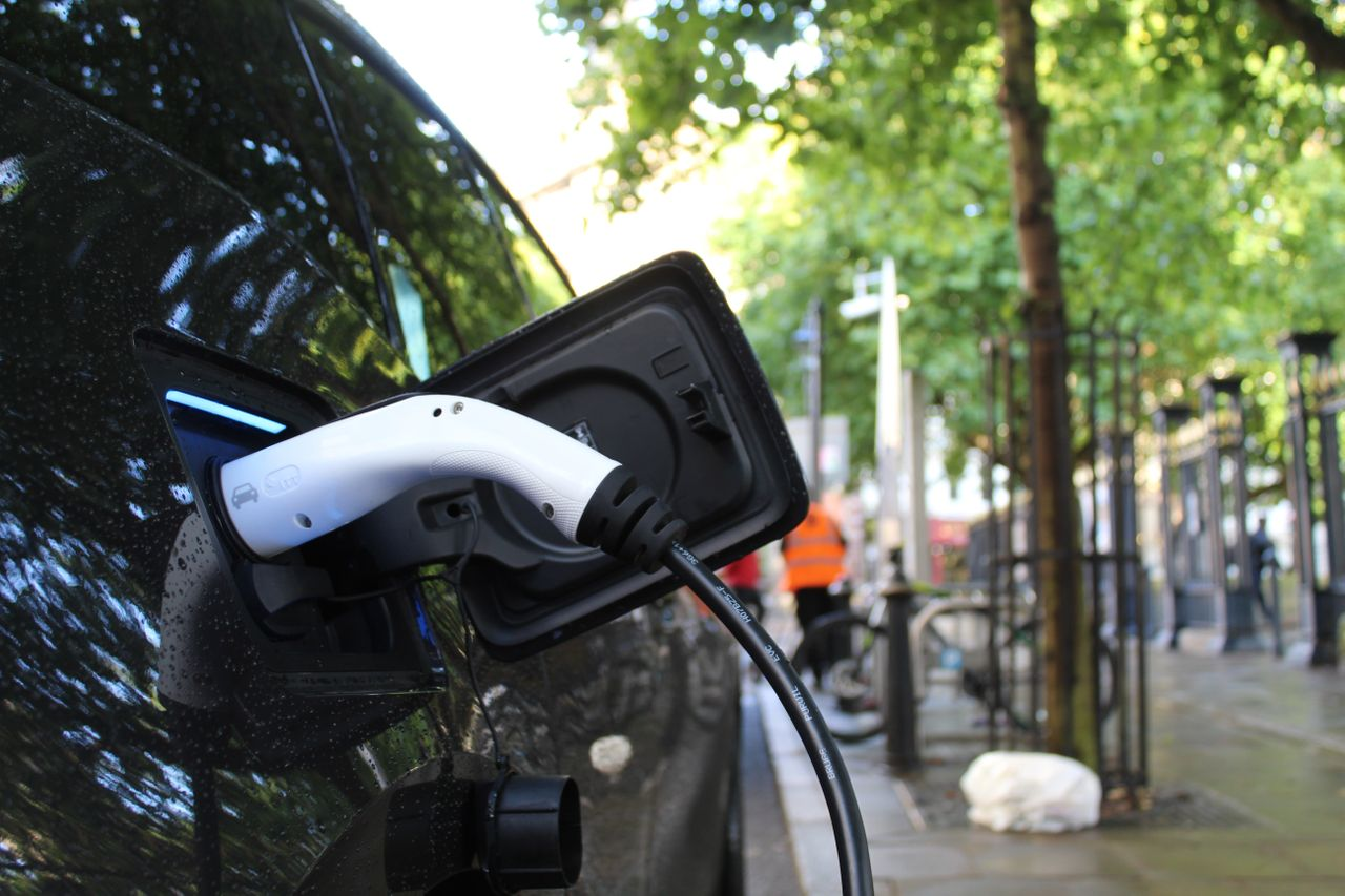 Renewable energy car charging