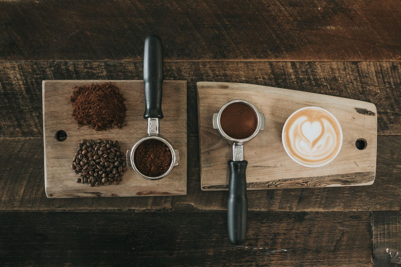 Sustainable coffee with oat milk